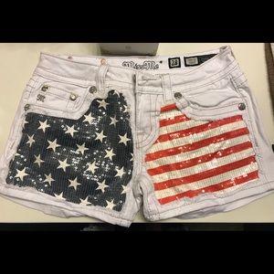 NWOT Miss me patriotic shorts